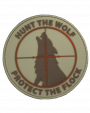 Hunt the Wolf, Protect the Flock Tan Velcro Patch
