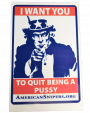 I Want You Adhesive Decal in Red and Blue